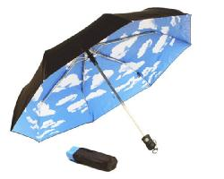 MoMA sky umbrella blue sky folding umbrella New York modern art museum rainwear one touch umbrella