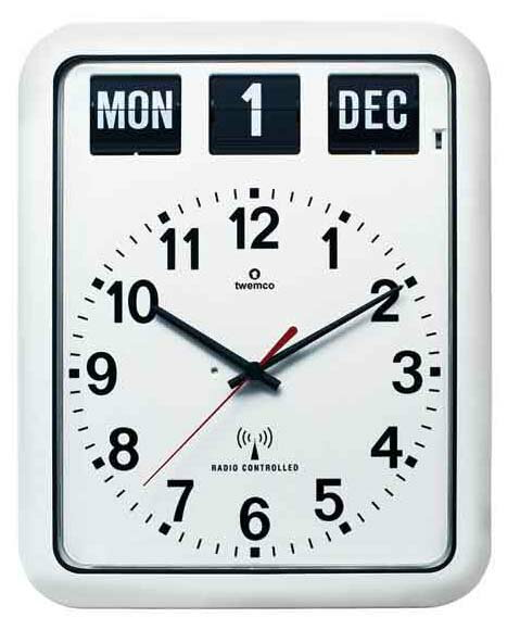 Rakuten ranking 1st place winner TWEMCO, radio clock radio clock 12 A RC-bipolar automatic response (white) a stylish wall clock, wall]