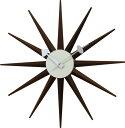 ジョージネルソンのデザインした掛時計(掛け時計)ですジョージネルソン サンバーストクロック ネルソンクロック[ウォルナット]GN13396WB 掛時計(掛け時計) 送料無料【10P12Jun12】