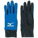 ミズノ(mizuno)手袋(サッカー)ブルー×ブラック 62BK05024