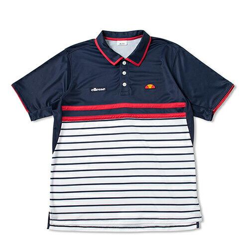 エレッセ(ellesse)TEAMポロシャツゲームシャツ/ゲームウエア/メンズ/男性用/テニス/ネイ