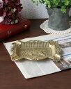 ライオンモチーフのクラシカルな真鍮の灰皿 小物入れ クラシック 豪華 ゴールド インテリア イタリア製 輸入 お洒落 デコラティブ