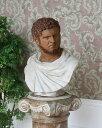 陶器で仕上げたイタリア製のインパクトのある男性の胸像