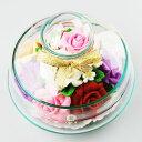 【送料無料】母の日★お誕生日★プレゼント★目玉プレゼント●ソープフラワー●ローズミックス●Mサイズ