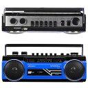 SANSUI サンスイ SCR-B2 ブルー BL カセットテープレコーダー レトロデザイン Bluetooth MP3 対応 ラジカセ (F)