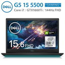 Dell NG585A-ANLB G5 15 5500 ブラック ゲーミングノートパソコン NVIDIA GeForce GTX1660Ti 144Hz 15.6FHD Core i7-10750H 16GBメモリ 512GB SSD Wi-Fi6 デル (10)