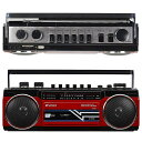 SANSUI サンスイ SCR-B2 レッド RD カセットテープレコーダー レトロデザイン Bluetooth MP3 対応 ラジカセ(F)