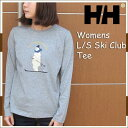 ヘリーハンセン あす楽対応 W L/Sスキークラブティー ウィメンズ ミックスグレー レディース ロンT Tシャツ 長袖 シロクマ スキー 北欧 HELLY HANSEN W L/S Ski Club Tee womens ladys HW61681