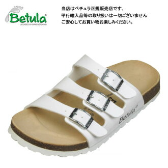 During the week in order to 1:00 PM on the same day is shipping Betula by Birkenstock UGI white ビルコフロー clock / comfort Sandals Betula By Birkenstock Woogie White Birko-Flor