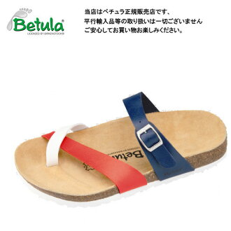 Betula by Birkenstock Meer white / blue / cherry clock Sandals / comfort Sandals ビルコフロー Betula By Birkenstock Meer Dark White/Blue/Cherry Birko Flor