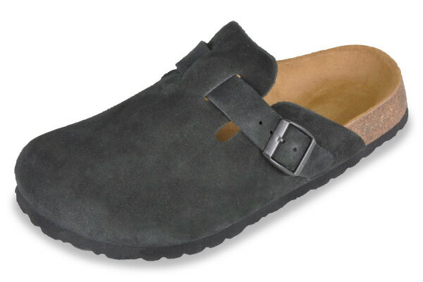 Betula by Birkenstock lock Black Suede clock / comfort Sandals Betula By Birkenstock Rock Black Suede