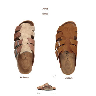 same day shipping is on orders of up to 50% off 1:00 PM by Birkenstock tatami Saar dark brown light brown TATAMI by Birkenstock Saar Dk Brown, Lt Brown 822113 sandal sandal