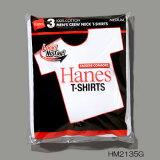 �إ��� �������б� ������٥� ���롼�ͥå�T����� 3���� HM2135G 010 �ۥ磻�� �֥ѥå� Hanes T-SHIRT ��� Ⱦµ��̵�� 3�ѥå�T����ġ�
