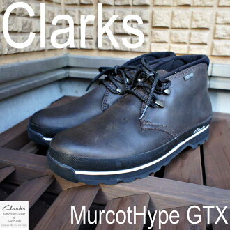 Clarks men's casual マーコットハイプ GTX Clarks Murcot Hype GTX Dark Brown Lea
