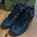 キーン 1021617 メンズ ベンチャーミッド レザー ウォータープルーフ 防水ハイキングシューズ Keen Mens Venture Mid Leather WP Black..