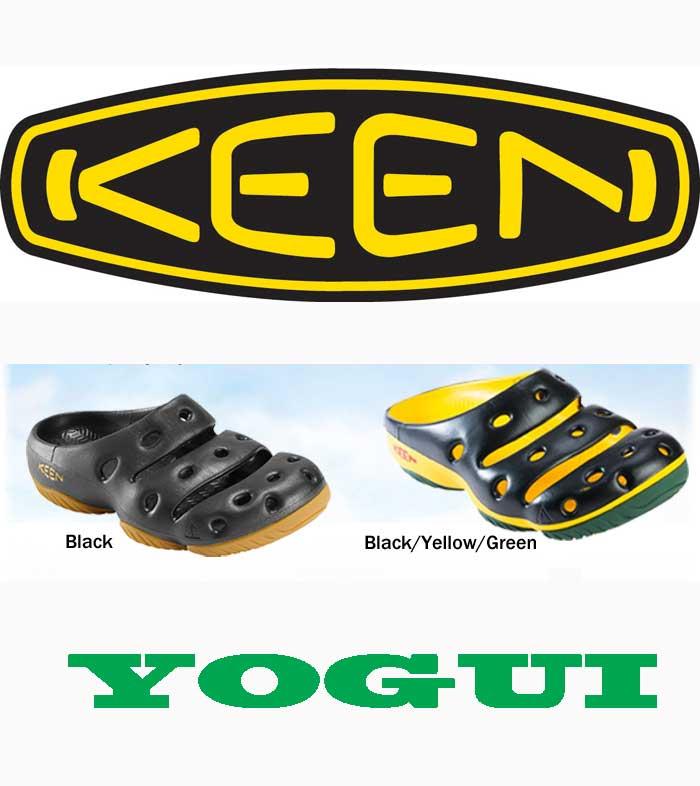 Keen men's Yogi Sandals men's yogui continued 2 color KEEN MENS YOGUI SANDAL BLACK BLACK / YELLOW / GREEN