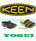 キーン あす楽対応 メンズ ヨギ サンダル 男性用 クロッグ 継続2カラー KEEN MENS YOGUI SANDAL BLACK BLACK / YELLOW / GREEN kk910