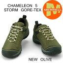 メレル カメレオン 5 ストームゴアテックス M575501 NEW OLIVE Merrell CHAMELEON 5 STORM GORE-TEX メンズ アウトドア ゴアテックス スニーカー
