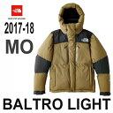 ザ ノースフェイス 10月下旬出荷予定 予約につきタオルプレゼント 2017-18年最新モデル バルトロ ライト ジャケット ミリタリーオリーブ 天体観測や雪上ハイクにも対応できる、高い保温性を持つ防寒ジャケット The North Face Baltro Light Jacket ND91710 MO