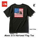 ザ ノースフェイス NT32053 K ネコポス便対応 ショートスリーブナショナルフラッグティー(メンズ) The North Face Mens S/S National Flag Tee NT32053 (K)ブラック