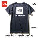 ザ ノースフェイス NTW32038 UN ショートスリーブスクエアーロゴティー(レディース) ネコポス便対応 The North Face S/S Square Logo Tee LADYS WOMENS NTW32038 (UN)アーバンネイビー