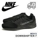 ナイキ ダウンシフター 7 4E スニーカー メンズ ランニングシューズ 靴 メッシュ 軽量 ローカット 黒 ブラック 男性 NIKE DOWNSHIFTER 7 4E 送料無料