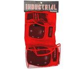 INDUSTRIAL 3 in 1 PAD SET RED/BLACK インダストリアル パッド 3点セット プロテクター レッド/ブラック スケートボード スケボー 子供から大人まで対応 10vb