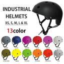 【送料無料】 INDUSTRIAL HELMET インダストリアル ヘルメット プロテクター スケートボード スケボー BMX 自転車 パッド ガード 防具 キッズサイズ 子ども 子供 ジュニア メンズ レディース 子供から大人まで対応の豊富なサイズとカラー