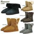 【送料無料】 ROMANINI 1896 Sheepskin Women's シープスキン ムートンブーツ 天然皮革 本革 ブーツ ボタン 折り返し ボア あったか 冷え取り 防寒 撥水加工 1310