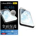 フルカバー強化ガラス フレーム付 ブルーライトカット iPhone XS/X