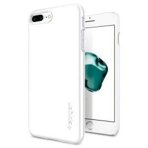 Spigen シンフィット ジェットホワイト iPhone 8 Plus