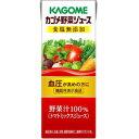 機能性表示食品 内容量200ml 紙パック 野菜ジュース 食塩無添加 24本 カゴメ