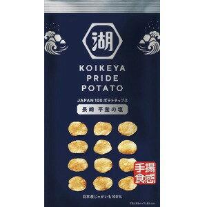 【ポテトチップス】【日本産じゃがいも100%】【手揚食感】KOIKEYA PRIDE POTATO-コイケヤ プライド ポテト-長崎 平釜の塩 12袋【湖池屋】