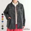 ショッピング国産 30%オフ SALE レディース シャツジャケット ラグランスリーブ 日本製 マシアシャツジャケット(コーデュロイ)アップルハウス