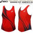 asics/アシックス アップルオリジナル ランニングシャツ (ASMRT2015-05:レッド/ブラック) オリジナル メンズ陸上ウェア ランシャツ(asmrt201505)