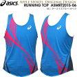 asics/アシックス 一部予約商品 アップルオリジナル ランニングシャツ (ASMRT2015-06:ターコイズ/オペラ) オリジナル メンズ陸上ウェア ランシャツ(asmrt201506)