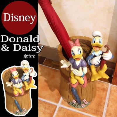 傘立て 【Disney】ドナルド&デイジーの傘立て 傘立て アンブレラスタンド オーナメン…...:apricot-r:10007947