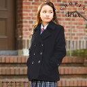 1672-2510【送料無料】正統派のウール混Pコート 女の子 スクールコート ジュニアサイズ CHOPIN deux 黒 紺 150 160 165cm