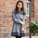 【卒業式 スーツ 女の子】8801-6500 清楚な雰囲気のセーラー襟スーツセット(ボレロ/ワ