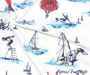 【ニット 生地】鹿の子編みニット ヨット気球柄【ニット】【P01Jul16】