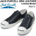 レザースニーカー ジャックパーセル SRK レザー メンズ スニーカー JACK PURCELL リミテッドモデル 本革 靴 男性用 シューズ ローカット コンバース converse ネイビー 1CK401 正規品