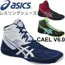 アシックス asics メンズ レスリングシューズ CAEL V6.0 カエル 男性用 軽量 試合 練習/TWR332