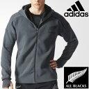 アディダス メンズ オールブラックス フルジップ パーカー ジャケット adidas ALL BLACKS フーディー ZNEシリーズ 男性 ラグビー トレーニング ウェア BK0278 アンセムジャケット/MMC06