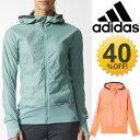 レディース ランニングジャケット /アディダス adidas/ウィンドジャケット 婦人・女性用 ウィンドブレーカー ウインドブレイカ— フルジップパーカー スポーツウェア アウター/BPT52/