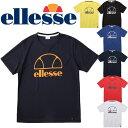 半袖 Tシャツ プラクティスシャツ テニスウェア メンズ レディス/エレッセ ellesse TENNIS テニスシャツ ロゴT スポーツウェア ユニセックス 練習 部活 プラシャツ トップス /ETS16311