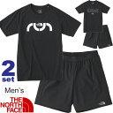 ランニングウェア 半袖Tシャツ パンツ 2点セット メンズ THE NORTH FACE トレーニング ジョギング ジム スポーツウェア セットアップ 紳士 上下組 RKap/NT31890-NB41875
