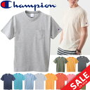 半袖Tシャツ メンズ チャンピオン Champion ベーシック クルーネック 半袖シャツ タウンユース スポーツカジュアル 紳士 男性用 トップス T-SHIRTS/C3-K344