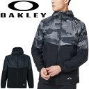 ウィンドブレーカー メンズ アウター オークリー OAKLEY Enhance ウィンドジャケット 10.0/スポーツウェア トレーニング はっ水 防風 フード付き 上着 男性 ランニング 部活/FOA400806