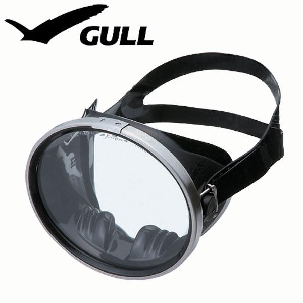 ダイビング用マスク GULL/ガルアビス ブラックシリコンGM-1086
