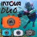 デジタルビデオカメラ INTOVA イントバ DUO SPORT ACTON CAM 防水 アクションカム 水中カメラ デジカメ アクションカメラ|防水カメラ 水中 シュノーケル ダイビング シュノーケリング マリンスポーツ サーフィン デジタルカメラ ムービーカメラ 防水デジタルカメラ